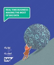 real time business: making the most of big data - FEI Canada
