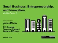Small Business, Entrepreneurship, and Innovation - FEI Canada