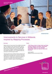 Improvements to Services in Midlands Inspired by Mapping Processes
