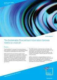 The Sustainable Procurement Information Network www.s-p-i-n.co.uk