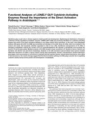 Functional Analyses of LONELY GUY Cytokinin-Activating Enzymes ...
