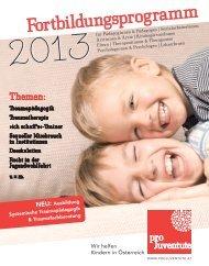 Pro Juventute FB Programm 2013 - kinder-jugendpsychiatrie.at