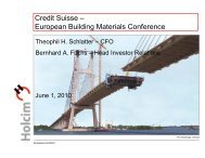 Credit Suisse – European Building Materials Conference
