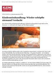 Wieder schöpfte niemand Verdacht > Kleine Zeitung - kinder ...
