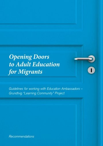 How to open doors to adult education for migrants - Learning ...