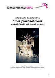 Staatsfeind Kohlhaas - Schauspielhaus Graz