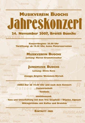 Konzertprogramm - Musikverein Buochs