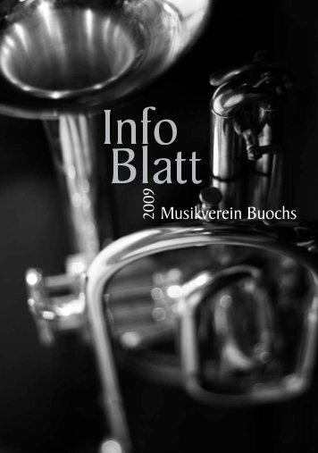 Infoblatt 2009 - Musikverein Buochs