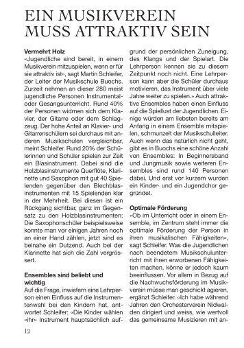 EIN MUSIKVEREIN MUSS ATTRAKTIV SEIN - Musikverein Buochs