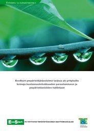 EcoStart-ympäristöjärjestelmä tarjoaa pk-yrityksille keinoja ...