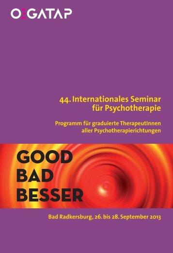 Radkersburg 2013, Programm für graduierte ... - ÖGATAP