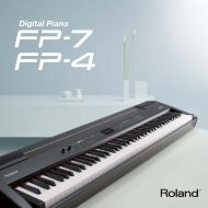 Portable & Versatile Roland FP Digital Pianos are ... - Clavis Piano's