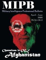 Military Intelligence Professional Bulletin - Federation of American ...