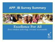 APP IB Survey Summary APP_IB Survey Summary - Seattle Public ...