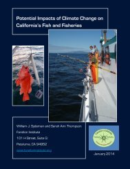 Potential Impacts of Climate Change on CA's Fish and Fisheries