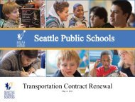 Excellence for All - Seattle Public Schools