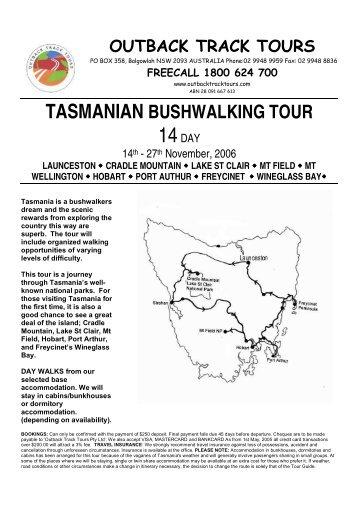 Tasmania Bushwalking2006 - Outback Track Tours