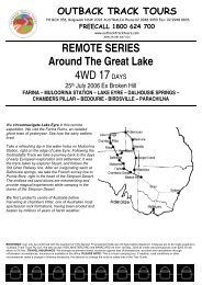 17D Around Lake Eyre 2006 - Outback Track Tours