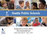Summary RIF - Seattle Public Schools