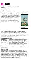 Schlafes Bruder - asphalt & anders Verlag