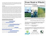 From Meals to Wheels: - Global Justice Ecology Project
