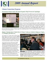 Annual Report 2009.pdf - Global Justice Ecology Project
