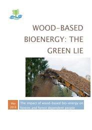 Wood-based bioenergy: the green lie - Global Forest Coalition