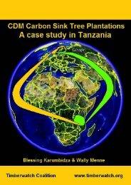 CDM Carbon Sink Tree Plantations - Timberwatch