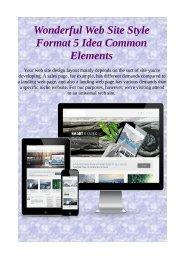 Wonderful Web Site Style Format 5 Idea Common Elements