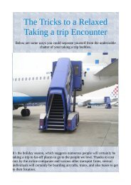 The Tricks to a Relaxed Taking a trip Encounter