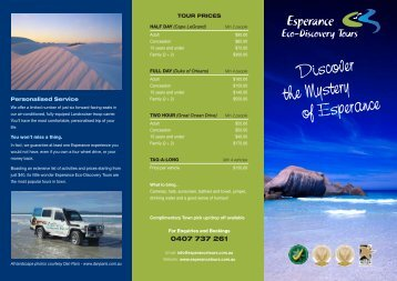 Download brochure - Esperance Eco-Discovery Tours