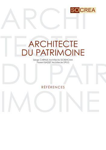 ARCHITECTE DU PATRIMOINE