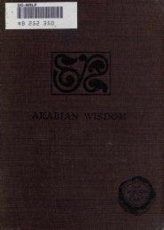 Arabian Wisdom - John Wortabet - The Search For Mecca
