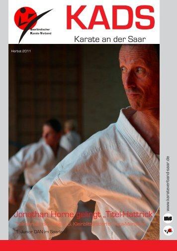 KADS Herbst 2011.indd - Saarländischer Karateverband e.V.