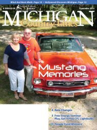 Your Electric Cooperative - Michigan Country Lines Magazine