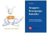 Gruppen- Bewegungs- Kalender - Bewegter Kindergarten