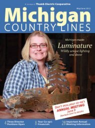 Thumb Electric Annual Meeting - Michigan Country Lines Magazine