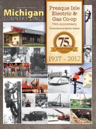 Presque Isle Electric & Gas Co-op - Michigan Country Lines Magazine