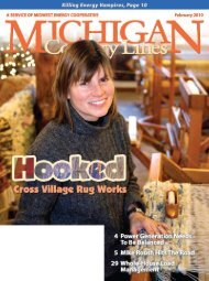 Midwest Energy Cooperative - Michigan Country Lines Magazine