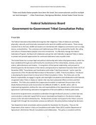 Tribal Consultation Policy - US Department of the Interior