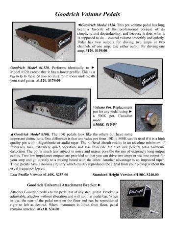 Goodrich Volume Pedals - Billy Cooper's Steel Guitars
