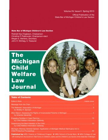 The Michigan Child Welfare Law Journal - Referees Association of ...