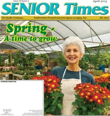 April 2013 - Southwestern Pennsylvania Area Agency on Aging, Inc.