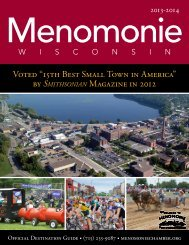 2013-Menomonie-Guide.. - Greater Menomonie Area Chamber of ...