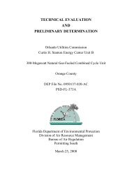 technical evaluation - Florida Department of Environmental Protection