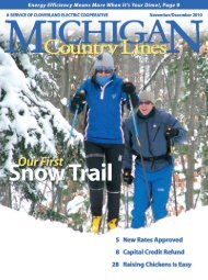 ClovErland ElECtriC CoopErativE - Michigan Country Lines Magazine