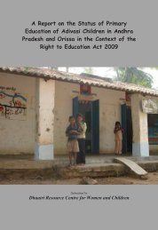A Report on the Status of Primary Education of Adivasi ... - Dhaatri.org