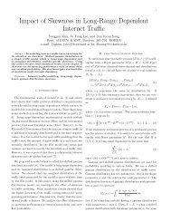 Impact of Skewness in Long-Range Dependent Internet Traffic - KAIST