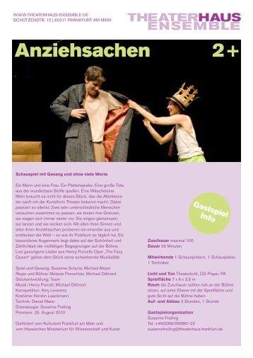 Gastspielinfo PDF - Frankfurt, Theaterhaus