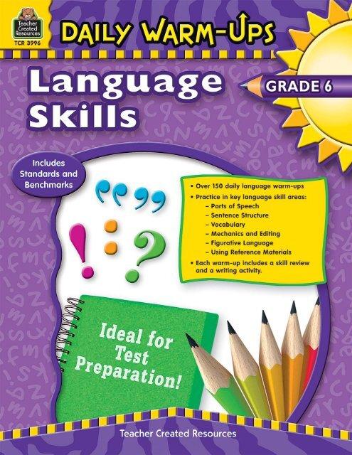 Daily Warm-Ups Language Skills Grade 6 BookE-book Bundle pdf